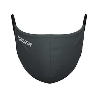 (Bauer Reversible Fabric Face Mask - Charcoal)