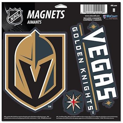 (Wincraft 3 Pack Magnet - Vegas Golden Knights)