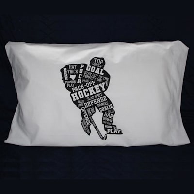 (Painted Pastimes Hockey Player Pillow Case - Glow in the Dark)