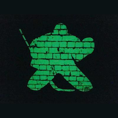 (Painted Pastimes Hockey Goalie Pillowcase - Glow in the Dark)