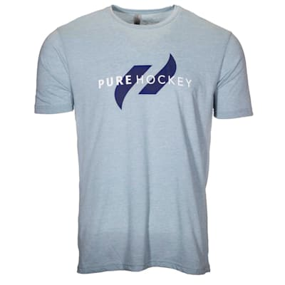 (Pure Hockey Classic Tee 2.0 - Stone Denim - Adult)