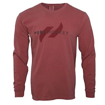 (Pure Hockey Classic Comfort Long Sleeve Tee Shirt - Adult)