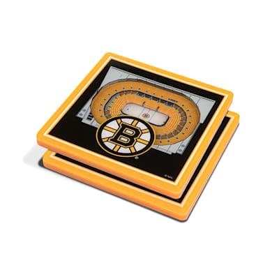 (YouTheFan NHL 3D StadiumView Coaster 2 Pack - Boston Bruins)