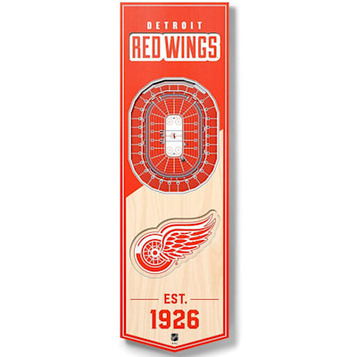 (YouTheFan NHL 3D Stadium Banner 6x19 - Detroit Red Wings)