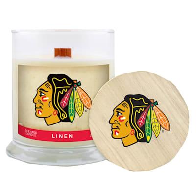 (Chicago Blackhawks 8oz Candle - Linen)