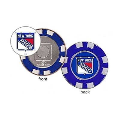 (Wincraft Poker Chip Ball Marker - NY Rangers)