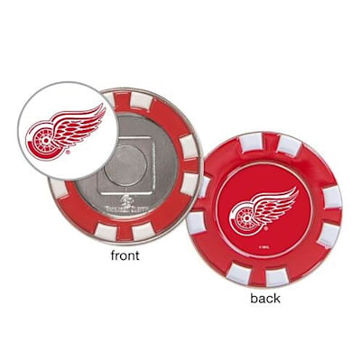 (Wincraft Poker Chip Ball Marker - Detroit Red Wings)