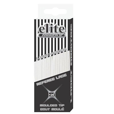 One Size (Elite Hockey Referee Molded Tip Laces)