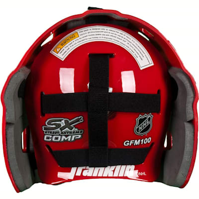 Full-Coverage, Adjustable Backplate (Franklin NHL Team SX COMP GFM 100 Street Hockey Goalie Mask - Youth)