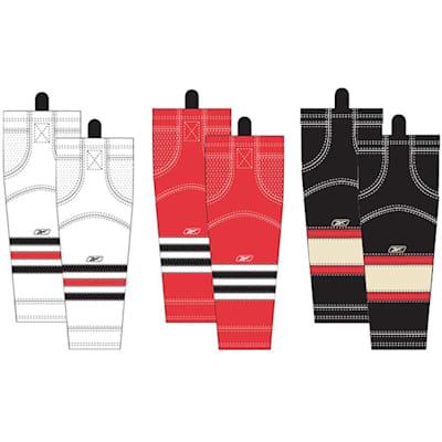 Junior (Reebok Chicago Blackhawks Edge SX100 Hockey Socks - Junior)