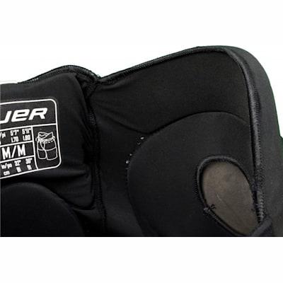 Adjustable Kidney Guard (Bauer Supreme TotalOne Adaptable Core Pad - Senior)