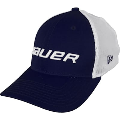 Navy (Bauer 39THIRTY Stretch Mesh Fitted Hat - Youth)