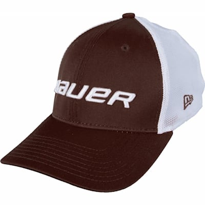 Brown (Bauer 39THIRTY Stretch Mesh Fitted Hat - Adult)