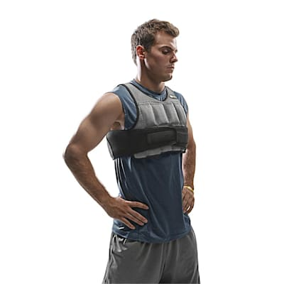 Vest being worn (SKLZ Weighted Vest)