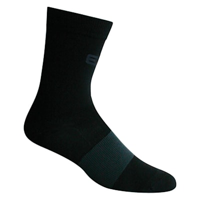 Black (Elite Hockey Pro Slimfit Mid-Calf Coolmax Socks - Adult)