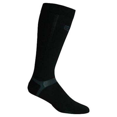 Black (Elite Hockey Pro X700 Knee Hockey Socks - Adult)