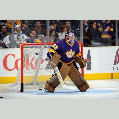NHL Action Shot - LA (Edge Protech Goalie Skate Blade Protector)