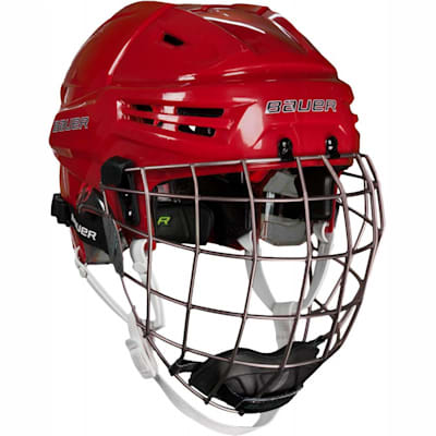 Red (Bauer RE-AKT Hockey Helmet w/Cage)