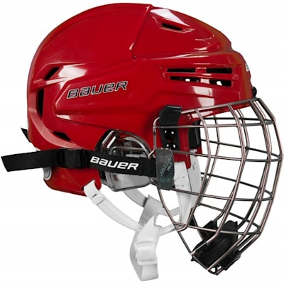 Helmet Features PORON® XRD (Bauer RE-AKT Hockey Helmet w/Cage)