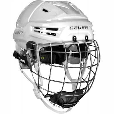 White (Bauer RE-AKT Hockey Helmet w/Cage)
