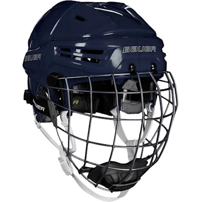 Navy (Bauer RE-AKT Hockey Helmet w/Cage)