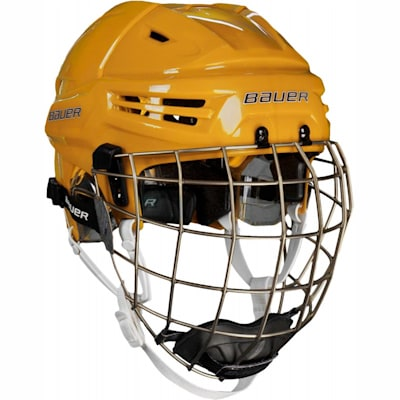 Gold (Bauer RE-AKT Hockey Helmet w/Cage)