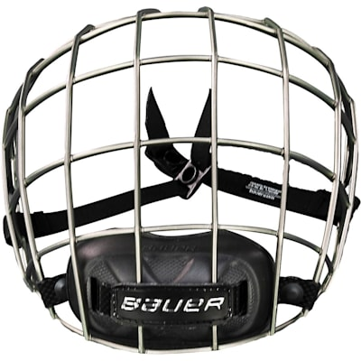 Patented Oval Wire System Allows for Good Vision (Bauer Re-AKT Titanium Facemask)