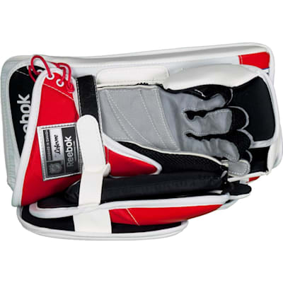 Durable Synthetic Leather Palm With Grip (Reebok Premier 4 Pro Goalie Blocker - Intermediate)