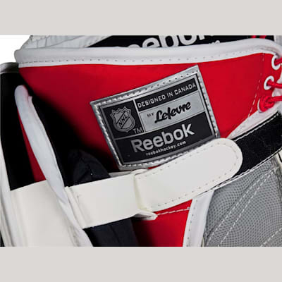 A Single Wrist Strap Provides A Custom Fit (Reebok Premier 4 Pro Goalie Blocker - Intermediate)
