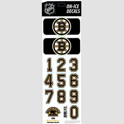 Boston Bruins (All-in-One Helmet Decal - Chicago Blackhawks - White)