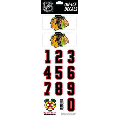 Chicago Blackhawks (All-in-One Helmet Decal - Chicago Blackhawks - White)