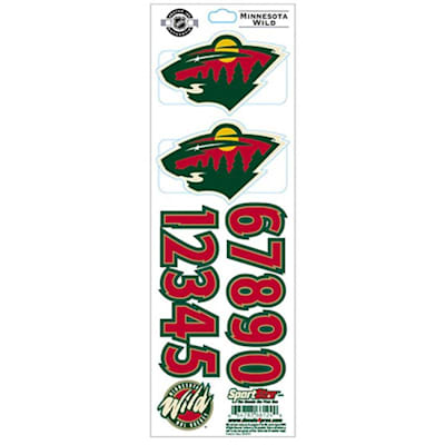Minnesota Wild (All-in-One Helmet Decal - Chicago Blackhawks - White)
