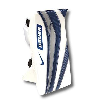 White/Blue/Silver (Bauer Supreme One95 Goalie Blocker - Intermediate)