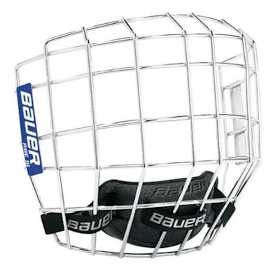 Chrome (Bauer RBE III Hockey Helmet Cage - Senior)