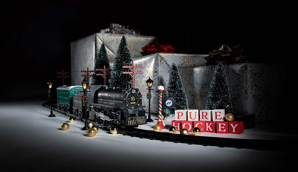 Pure Hockey toy train