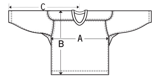 Hockey Jersey Sizing Diagram