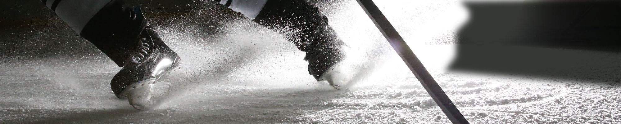 Hockey Skate Spraying Ice