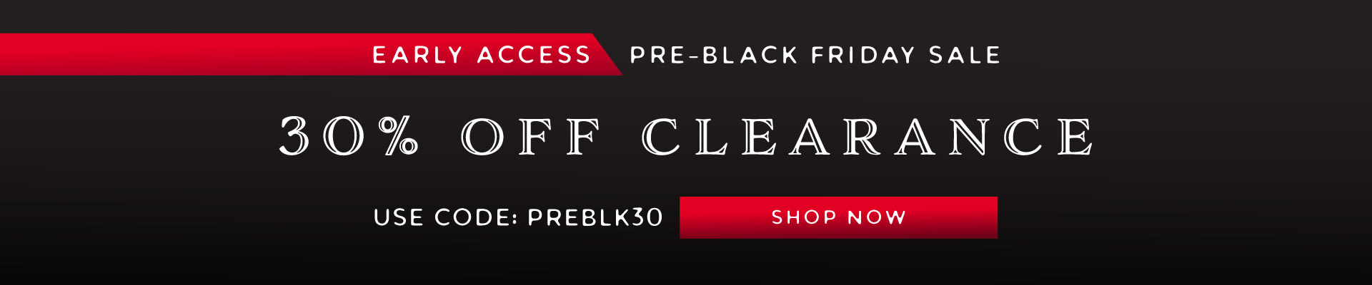 Pre-Black Friday Sale!