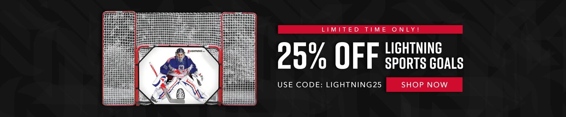 25% Off Lightning Goal