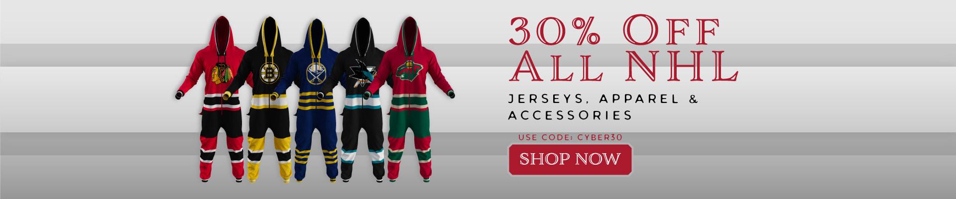 30% Off NHL Apparel