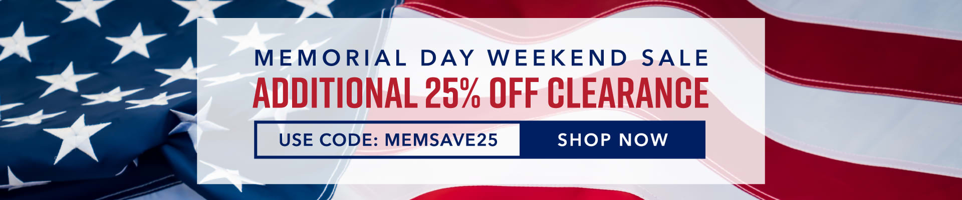 Shop Memorial Day Weekend Sale