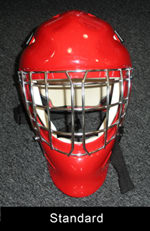 standard hockey goalie mask