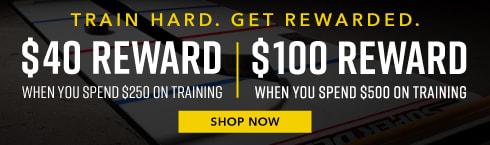 Shop Training & Earn Rewards
