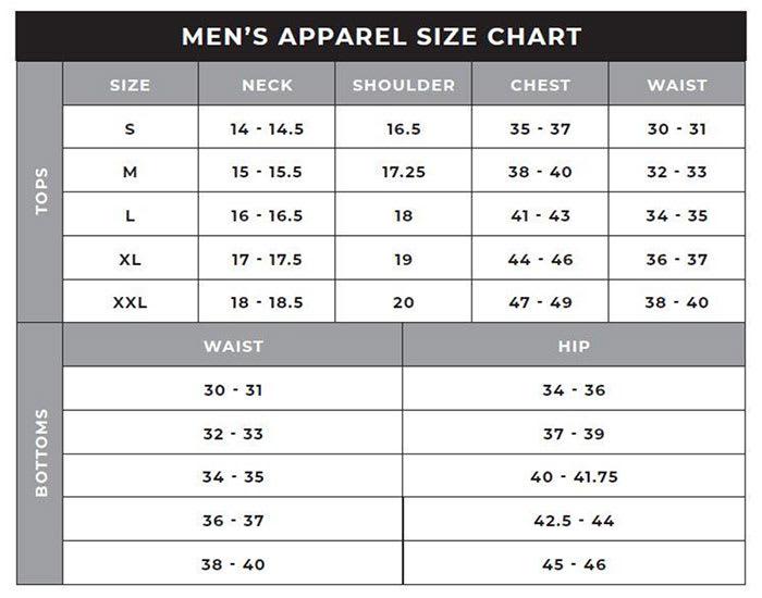 47 Brand Adult Sizing Chart