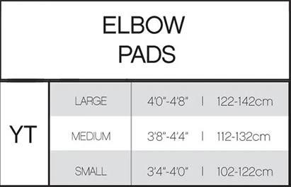 Pure Hockey Youth Hockey Elbow Pad Sizing Chart, Pure Hockey Youth Elbow Pad title=