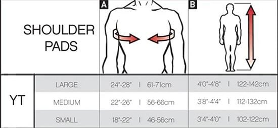 Pure Hockey Youth Hockey Shoulder Pad Sizing Chart, Pure Hockey Youth Shoulder Pad