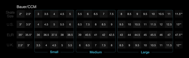 Marsblade Frame Kit Sizing Chart
