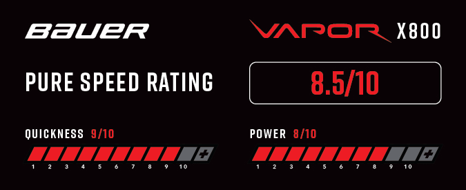 Bauer Vapor X800 Ice Hockey Skates - Pure Speed Rating
